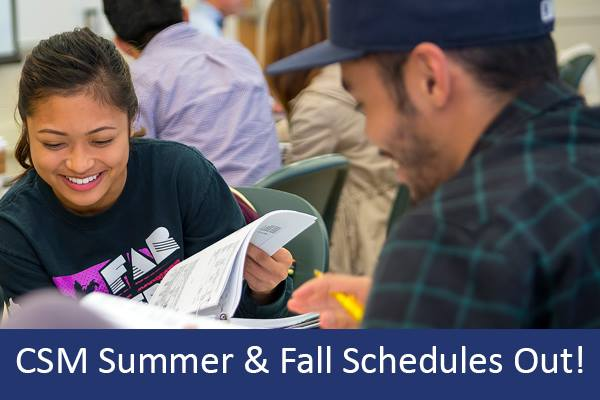 CSM Summer & Fall Schedules Out!